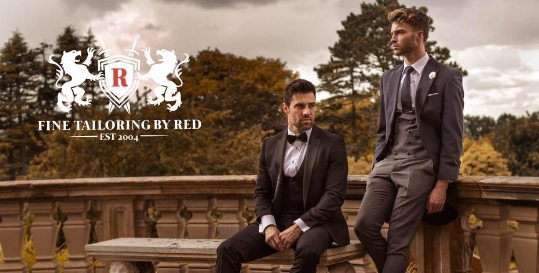Red Groomswear Genius App Fading Image 5
